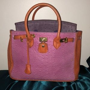 Handbags - Orange Hermes Birkin bag, Fair condition.